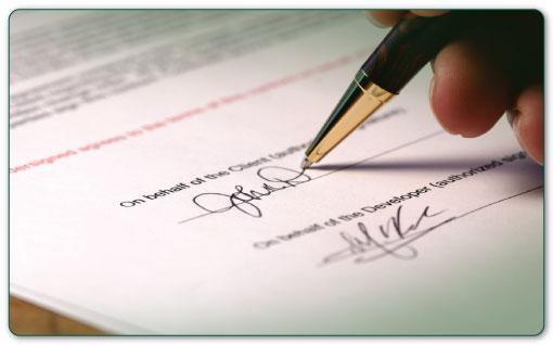 Hợp đồng trong thương mại dịch vụ quốc tế