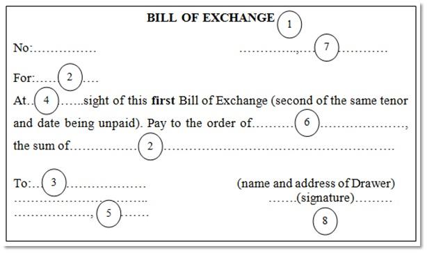 Nội dung chi tiết trên hối phiếu – Bill of Exchange