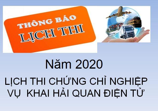 Thi chứng chỉ nghiệp vụ hải quan năm 2020