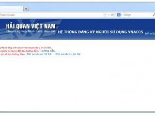 Hướng dẫn đăng ký tài khoản Vnaccs