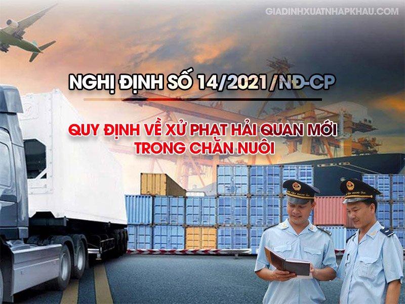 Nghị định số 14/2021/NĐ-CP về xử phạt Hải quan mới trong chăn nuôi
