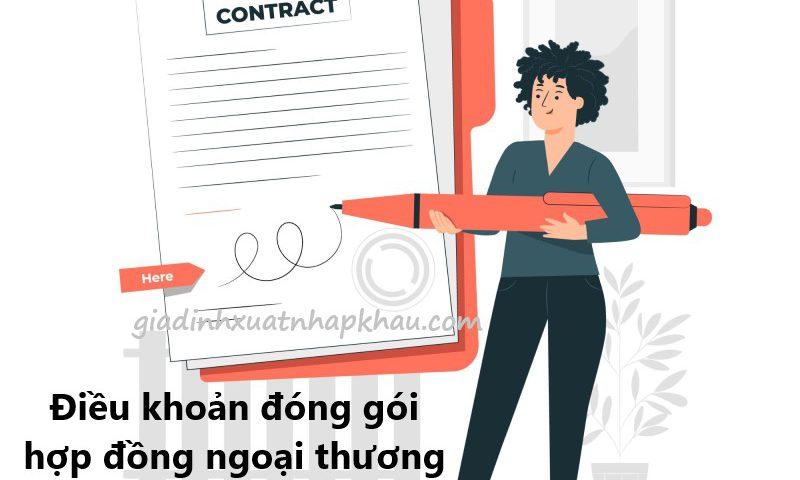 Điều khoản đóng gói trong hợp đồng ngoại thương